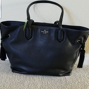 Kate Spade black pebbled leather tote NWT!